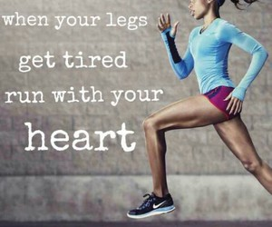 running, fit, and heart image