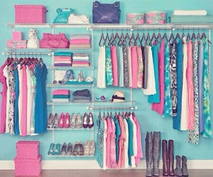 clothes, pink, and blue image