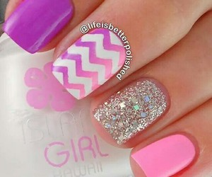 nails, pink, and purple image