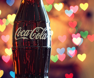 coca cola, drink, and heart image