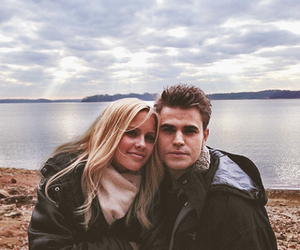 paul wesley, claire holt, and tvd image