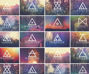 tattoo, symbol, and triangle image