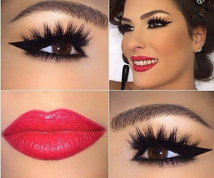makeup, fashion, and lips image