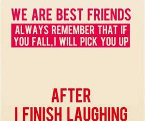 best friends and laughing image