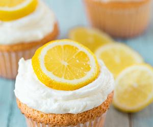 lemon, food, and cake image