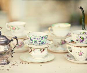 tea, teacup, and vintage image