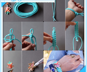 braid, rope, and turquoise image