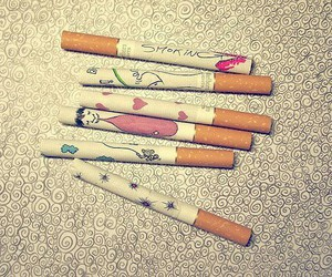 cigarette, smoke, and smoking image
