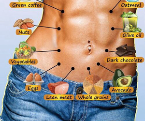 belly, burn, and food image