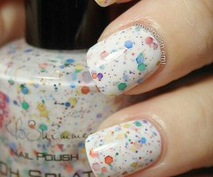 nails, nail polish, and white image