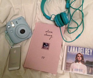 lana del rey, iphone, and book image