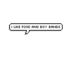 food, love, and boys image