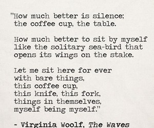 virginia woolf, poem, and silence image