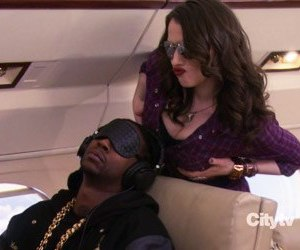 Kat Dennings, 2 chainz, and 2 broke girls image
