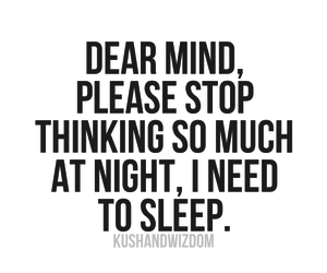 quotes, mind, and sleep image