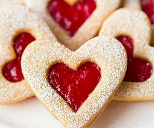 heart, sweet, and food image