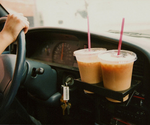 car, coffee, and drink image