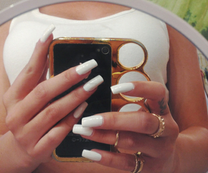 nails, fitness, and girl image