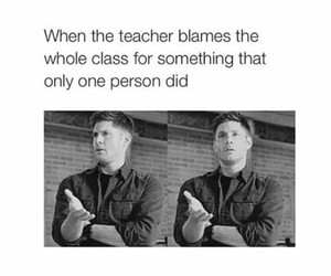 class, school, and spn image