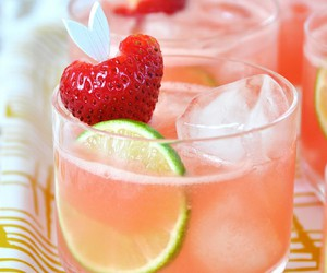cool, drink, and strawberry image