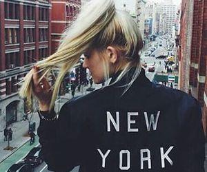 girl, new york, and hair image