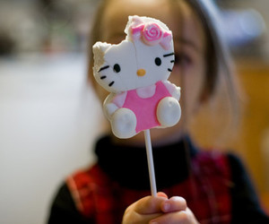 food, girl, and hello kitty image