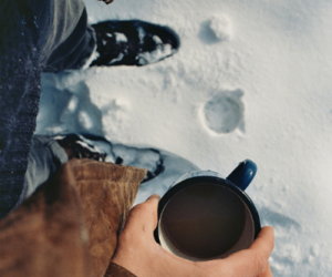 coffee, snow, and cold day image