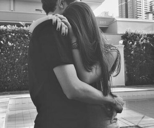 adorable, kiss, and black and white image