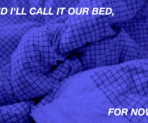 aesthetic, bed, and blue image