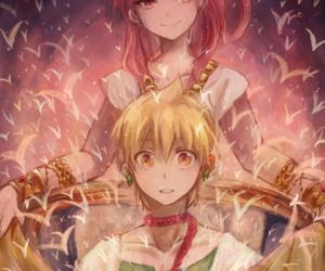 anime, couple, and morgiana image