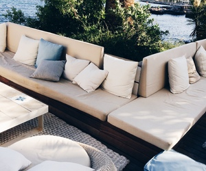 summer, couch, and luxury image