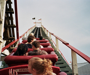 fun, Roller Coaster, and vintage image