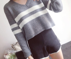 beauty, crop, and sweater image