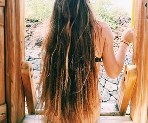 hair, girl, and longhair image