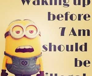 minions, illegal, and funny image