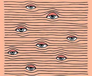 eyes, art, and wallpaper image
