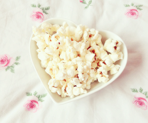 delicious, popcorn, and food image