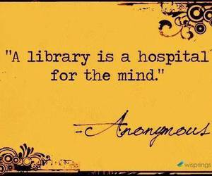 library, mind, and quote image