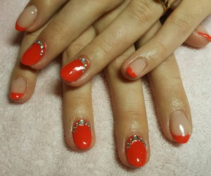 diamonds, red, and nails image