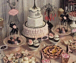 cake, paris, and party image