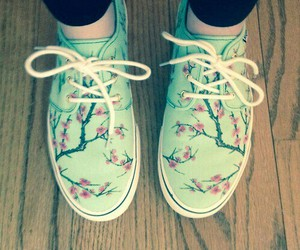 shoes, green, and vans image
