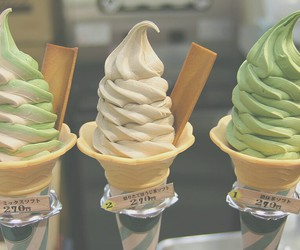 ice cream, food, and green image