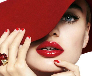 red, hat, and nails image