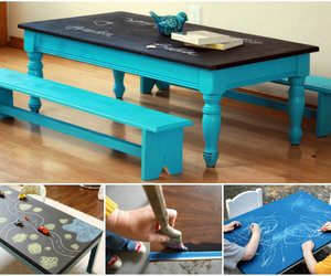 instructions, plan, and diy chalkboard table image