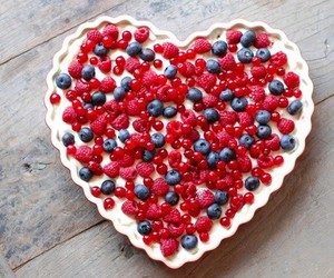 cake, fruit, and heart image