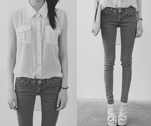 skinny and black and white image