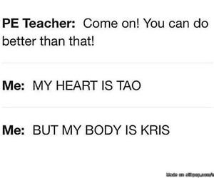 funny, exo, and kris image