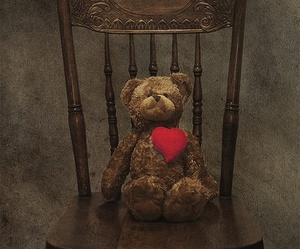 bear, hearts, and valentine image