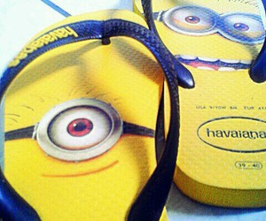 havaianas, minions, and yellow image