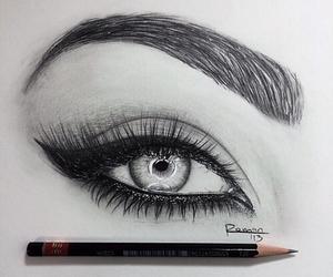 drawing, art, and eye image